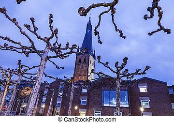St. Lambert Church in Dusseldorf. Dusseldorf, North Rhine-...
