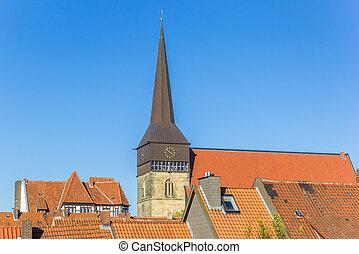St. Lamberti church in the historic center of Hildesheim, ...