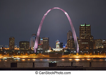 St. Louis Arch Breast Cancer Awareness
