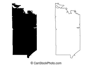 St. Louis County, Minnesota (U.S. county, United States of America, USA, U.S., US) map vector illustration, scribble sketch St. Louis map
