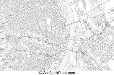 St. Louis, Missouri, USA, bright outlined vector map