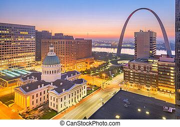 St. Louis, Missouri, USA Skyline - St. Louis, Missouri, USA ...