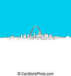 St. Louis panorama, Blue Series
