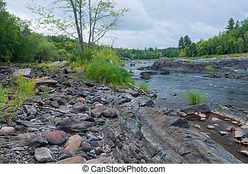 St Louis River and Rock Forms in Jay Cooke