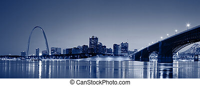 St. Louis skyline panorama. - Panoramic image of the St. ...