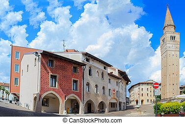 St. Marco square, Pordenone - View of St. Marco square in...