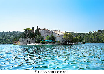 St. Marija  monastery on litle island in national park Mljet