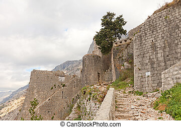 St Mark bastion of St John castle in Kotor, Montenegro