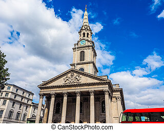 St Martin church in London HDR