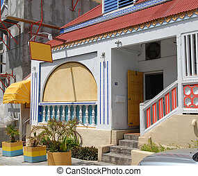 St. Martin Home - Entrance to a home in St. Martin, French...