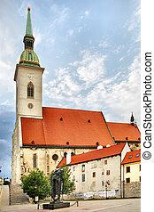 St. Martin's Cathedral (14th century) in Bratislava, ...