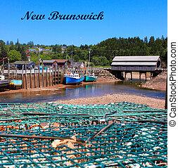 St. Martins, New Brunswick wharf - Fishing wharf in St. ...
