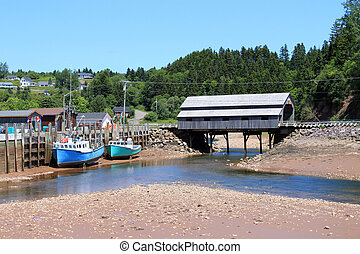 St. Martins, New Brunswick wharf - Fishing wharf in St....