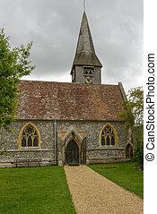 st mary, église, whitchurch, entrée, tamise