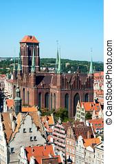 st, mary, catedral, em, gdansk, polônia