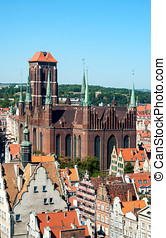 St Mary Cathedral in Gdansk, Poland