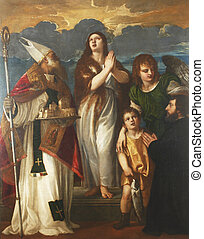 St. Mary Magdalene, Saint Blaise, the archangel Raphael, Tobias and the donor