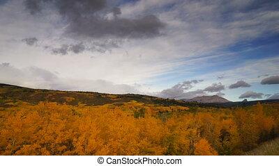 St Mary Montana Rocky Mountains Fall Foliage Glacier National Park