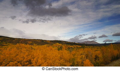 St Mary Montana Rocky Mountains Fall Foliage Glacier...