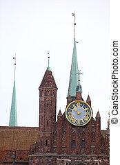 St. Mary's Basilica brick church Gdansk, Poland