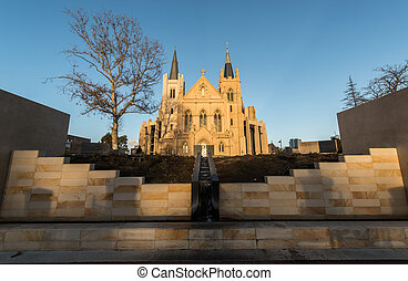 St Mary's Cathedral, Perth at night. Officially the ...