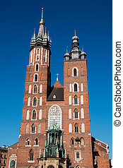 St. Mary's catholic church in Krakow, Poland