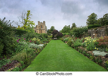 St. Mary's Chapel - grounds and well kept garden at Sudeley...