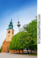 St. Mary's Church, Berliner Fernsehturm in Berlin