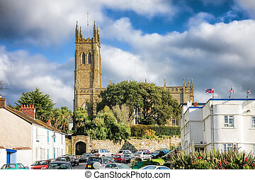 St Mary's Church in Penzance, Cornwall, England, UK