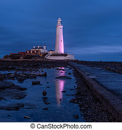St Marys Lighthouse on Northumbrian Coast