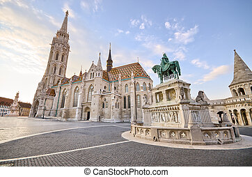 St Matthias church in Budapest, Hungary - St Matthias church...