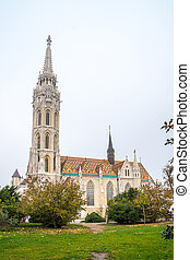 St. Matthias Church in Budapest. One of the main temple in...
