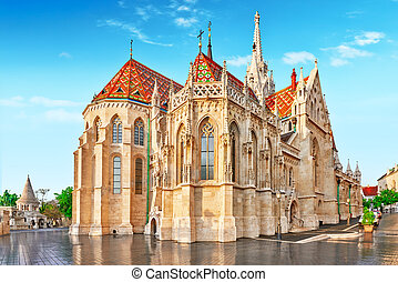 St. Matthias Church in Budapest. One of the main temple in Hungary