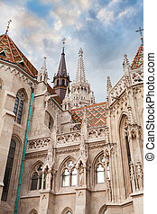 St. Matthias Church in the Fisherman's Bastion in Budapest, Hungary