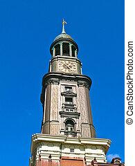 St. Michaelis church (known has Michel) in Hamburg, Germany.