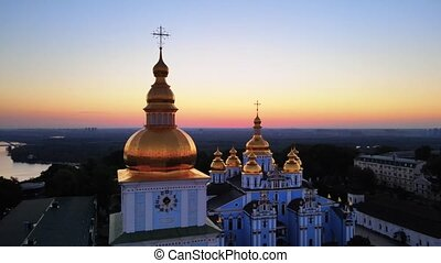 St. Michael's Golden-Domed Monastery in the morning. Kyiv, ...