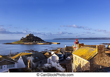 St Michael's Mount Cornwall England - St Michaels Mount,...