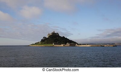 St Michaels Mount Marazion Cornwall England medieval castle...