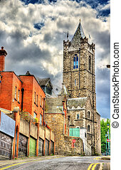 St Michael's tower of Christ Church Cathedral in Dublin