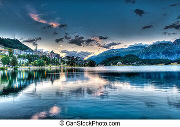 St. Moritz - Switzerland, at sunset