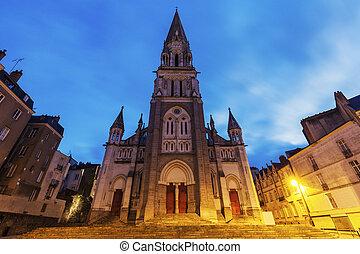 St Nicholas Church in Nantes. Nantes, Pays de la Loire, ...