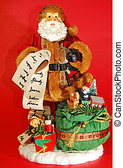 decoration of santa claus with presents