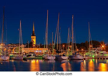 st olaf church, Tallinn - View of St Olaf's Church from...
