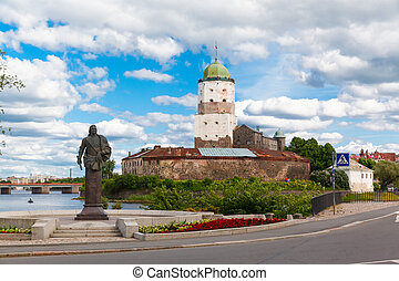 St. Olov castle, old medieval Swedish in Vyborg