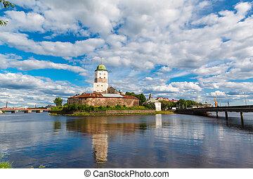 St. Olov castle, old medieval Swedish in Vyborg