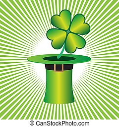 St. Patrick cap with lucky four leaf clover