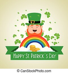 st patrick celebration with coins and clovers