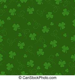 St. Patrick day background. Seamless pattern. Vector illustrat