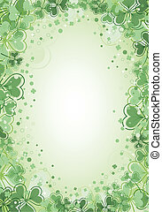 St. Patrick Day Background - St. Patrick Day frame with...