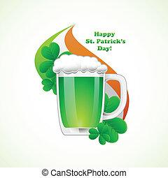 St. Patrick Day background. Vector illuatration.
